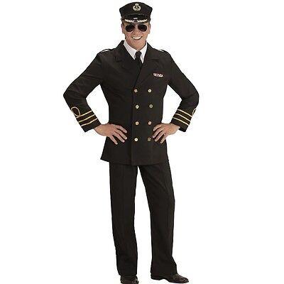 Herren Kostüm NAVY CAPTAIN Gr. M (50) Marine Offizier Seemann #5921