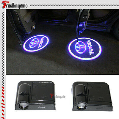 2x Toyota Wireless Car Door Welcome Laser Projector Shadow LED Light