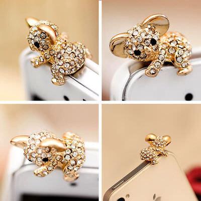 1x Nice Koala Crystal Ear Cap Anti Dust Jack Plug Stopper Cover IPhone Samsung