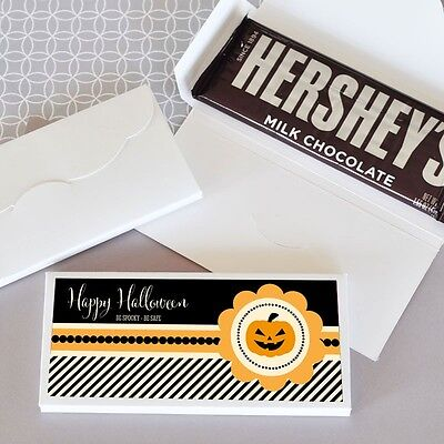 24 Personalized Classic Halloween Candy Bar Wrappers Party Favors](Candy Bar Wrappers Halloween)