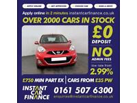 Nissan Micra Acenta Hatchback 1.2 Manual Petrol BAD / GOOD CREDIT CAR FINANCE