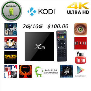 Android Boxes X96 S905X Quadcore 2G 16G