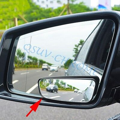 Pair Of Adjustable 42mm x 42mm Blind Spot Mirror For Car /& Van Wing Mirrors