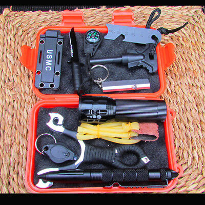 SOS Outdoor Emergency Survival Equipment Kit Gear Tool Tactical Hunting Camping
