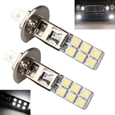 2Pcs H1 12-LED Replacement Headlight/Fog Light Bulbs Bright White 5050 5000k 12V