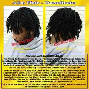 DREADLOCKS: STARTUP, EXTENSIONS, MAINTENANCE TREATMENT & REPAIRS