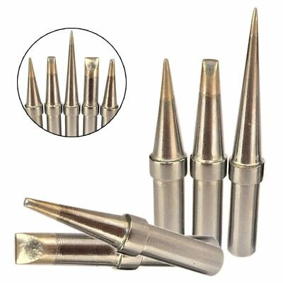 5pc Durable Soldering Iron Tips Eta Ett Soldering Tips Kit For Weller Wesd51