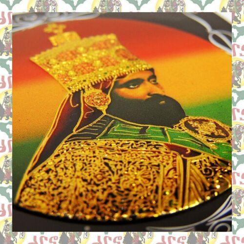 Metal Art Sticker - Haile Selassie I Reggae Rasta Ethiopia Africa Jamaica roots