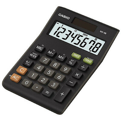 Casio MS8B Multi Functional 8 Digit Desk Calculator with Tax Calculations