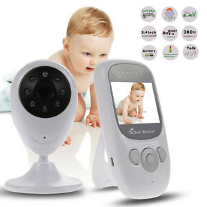 2.4GHz Wireless LCD Color Baby Monitor A/V Night Vision Camera!