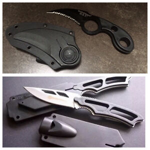 New Smith & Wesson stainless steel knives