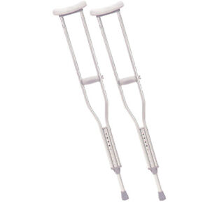 Aluminum Crutches Bequilles Like New, Comme Neuve