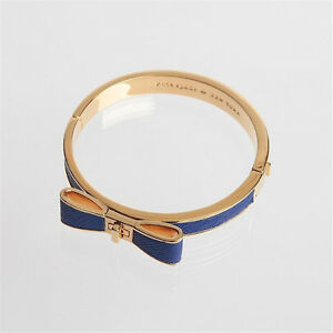 NWOT Kate Spade Perfectly Placed Leather Hinged Bow Bangle