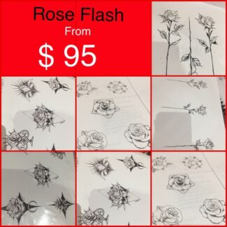 Rose tattoo from $95