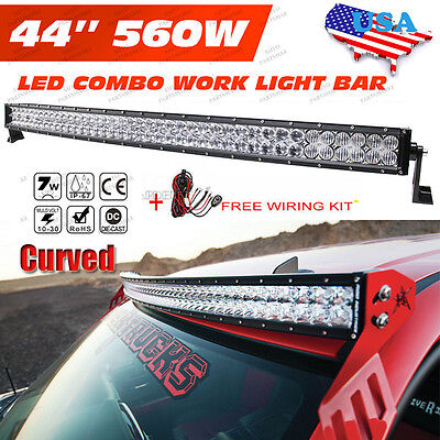 2017 OSRAM 42INCH 560W Curved LED Light Bar Spot Flood Offroad Driving Lamp 4WD