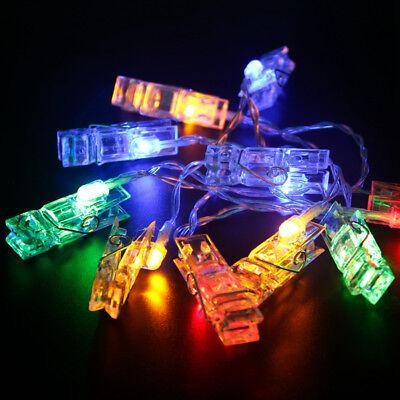 Xmas LED Lights Card Photo Clip 3xAA Battery Christmas Party Decor New Year Gift](New Years Decorating)