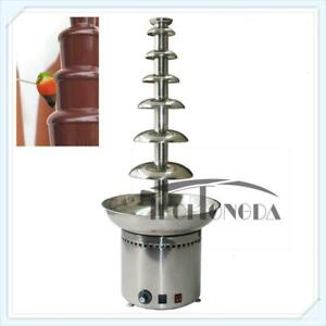 7 Tiers 110V Commercial Waterfall Chocolate Fountain Party Wedding Tool 153075