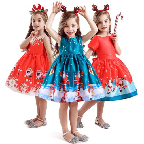 Kinder Halloween Party Kleid für Mädchen Ärmellos Prinzessin Weihnachten Kleid