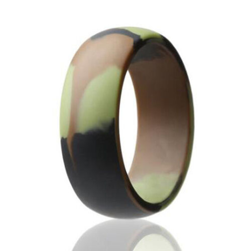 Casual Gym Sports Flexible Silicone Wedding Engagement Ring