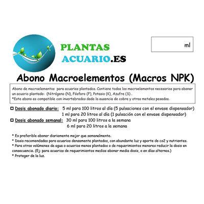 Abono Líquido Macroelementos (Macros NPK) 250 ml