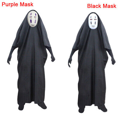 No Face Man Spirited Away Cosplay Costume for Halloween Costumes Mask Gloves