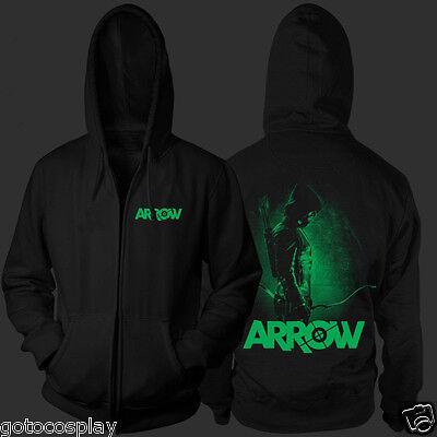 Green Arrow Zip Up Hoodie Cosplay Costume Oliver Queen Ollie Archer - Archer Queen Costume