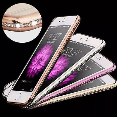 Bling Diamond TPU Soft Silicone Soft Gel Bumper Case Cover For iPhone 7 7 Plus