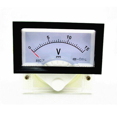 New Dc 0-15v Analog Dial Panel Meter Voltmeter Gauge Voltage Meter 7060