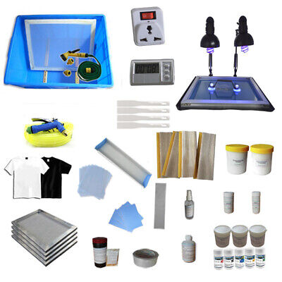 Silk Screen Printing Equipments Materials Kit Diy T-shirt Screen Printing Tool