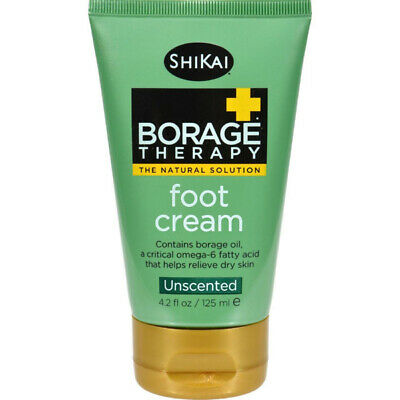 ShiKai Products - Borage Dry Skin Therapy Foot Cream Unscented - 4.2 Fluid Ounce Dry Skin Therapy Foot Cream