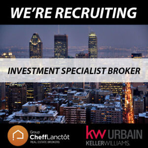 Looking for Real Estate Broker (Investment Specialist)