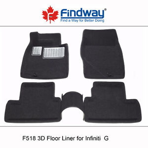 All weather 3D Car Floor Liners for 2007-2010 Infiniti G35/G37