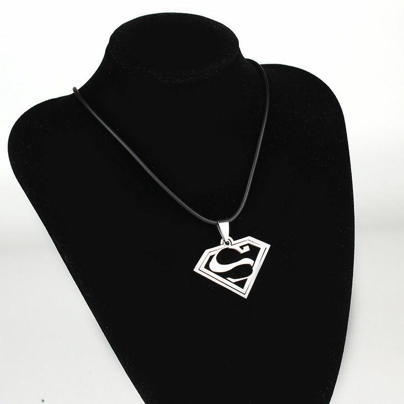 New Superman Stainless steel Necklace Pendants For Men Boys