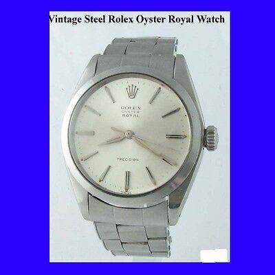 Vintage Steel Rolex Oyster Royal Precision Gents Wrist Watch 1962
