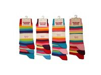 240 Pairs 3PK Kids Ladies Novelty Rainbow Colours Cotton Ankle Socks Size 4-6 Wholesale New Job Lot