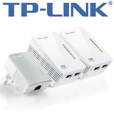 TP-LINK TL-WPA4220T KIT AV500 Powerline Universal WiFi Range Extender 2 Ethernet