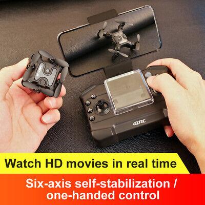 Mini Drone Selfi Foldable Quadcopter GPS Wifi FPV 4K HD RC Dual HD Camera US