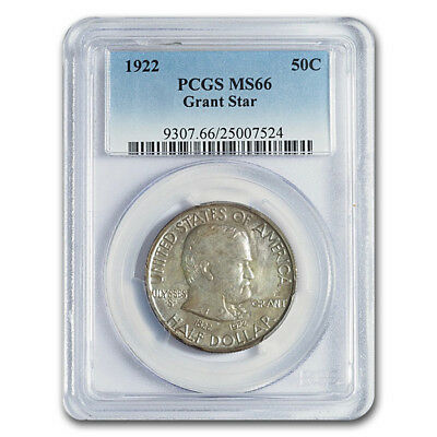 Click now to see the BUY IT NOW Price! 1922 GRANT MEMORIAL HALF DOLLAR W/STAR MS 66 PCGS