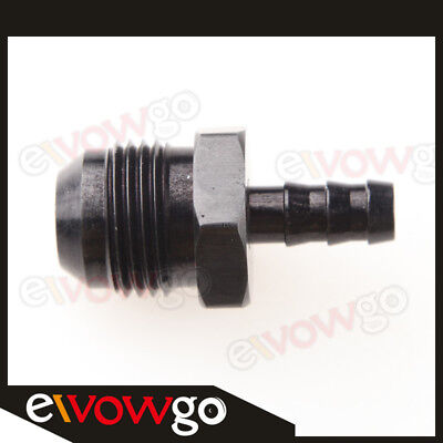 10AN AN10 AN-10 To 8mm Barb Straight Fitting Fuel Line Black