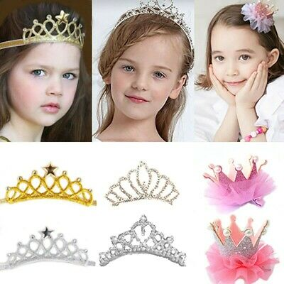 Kids Girls Toddlers Princess Crown/ Hair Clips/ Headbands Party Hair Accessories](Princess Accessories)