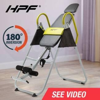 Gravity Inversion Table Chronic Back Pain Folding Upside Down