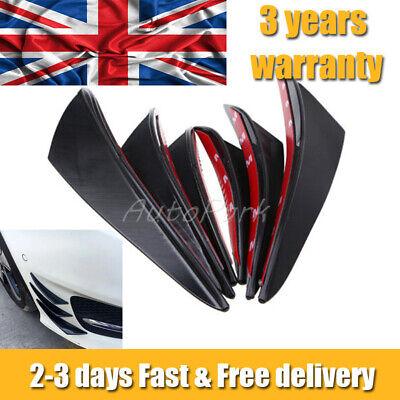 6pcs Front Bumper Lip Splitter Fins Body Spoiler Canards Fin Lip Gloss Black Car