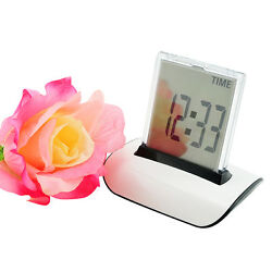 【USA】Protable 7 LED Colors Changing Digital LCD Thermometer Calendar Alarm Clock