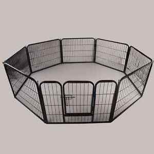 8-panel Heavy Duty Metal Dog Playpen