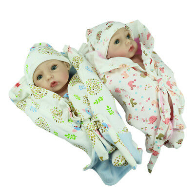 Used, 2pcs Silicone Realistic Reborn Baby Dolls Kit Boy and Girl Vinyl Lifelike Doll for sale  Shipping to Canada