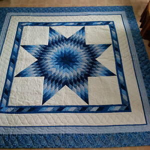 "Quilt - Queen  - 92"" by 92"" - hand quilted"