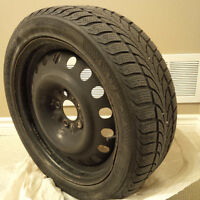 """17"""" Nokian WR winter tires + rims for sale - gently used"""