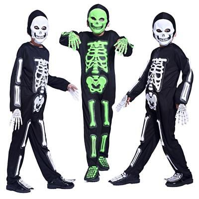 Halloween Boys Costume Party Dress Skeleton Ghost Clothing Masquerade (Party Ghost Kostüm)