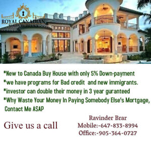 New to Canada Buy House with only 5% Down-payment