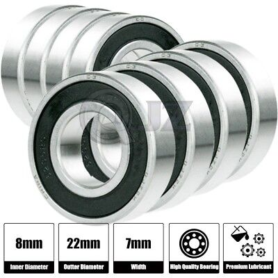 8x 608 Ball Bearing Abec 5 Hi-quality Bearing Skate Board Longboard Replacement
